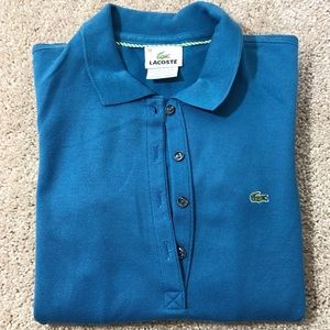 Lacoste Teal Blue polo dress